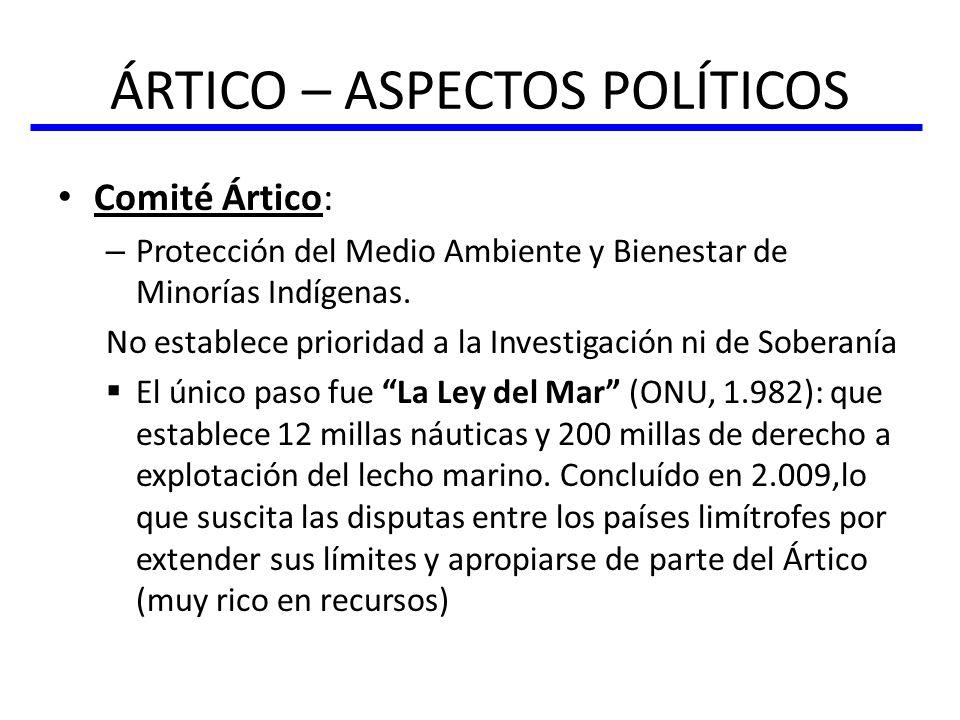 ÁRTICO – ASPECTOS POLÍTICOS