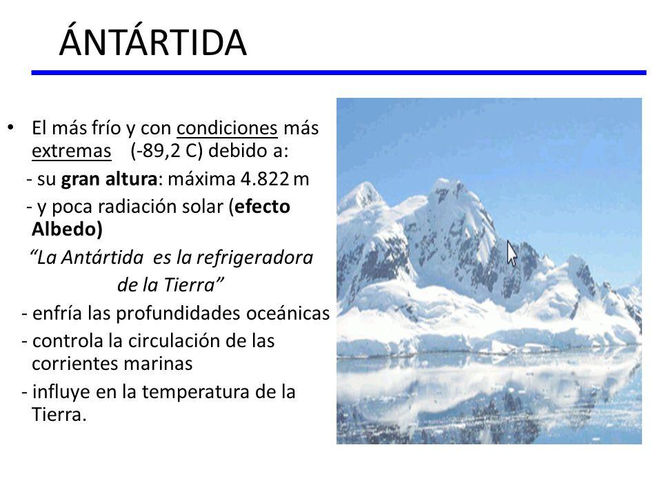 La Antártida es la refrigeradora