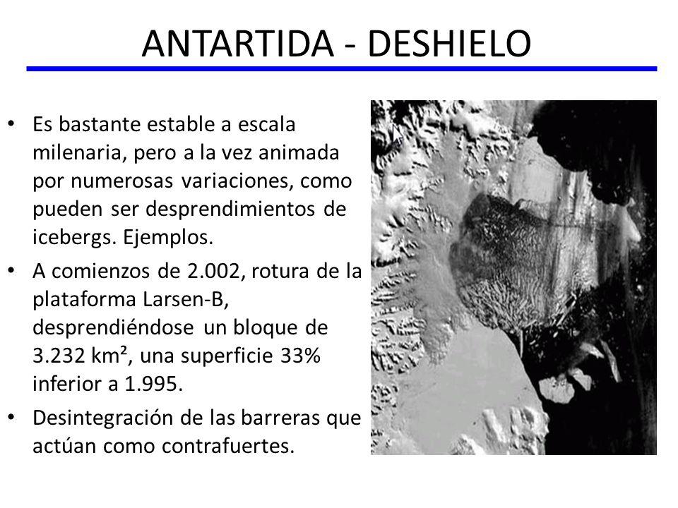 ANTARTIDA - DESHIELO