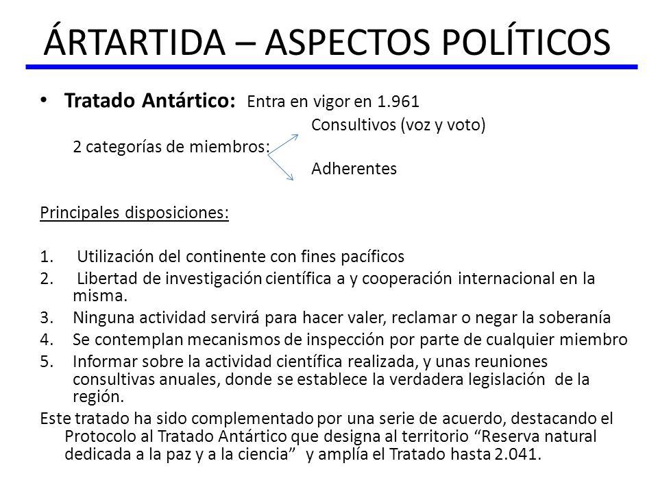 ÁRTARTIDA – ASPECTOS POLÍTICOS