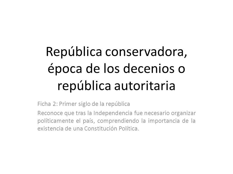 República conservadora, época de los decenios o república autoritaria