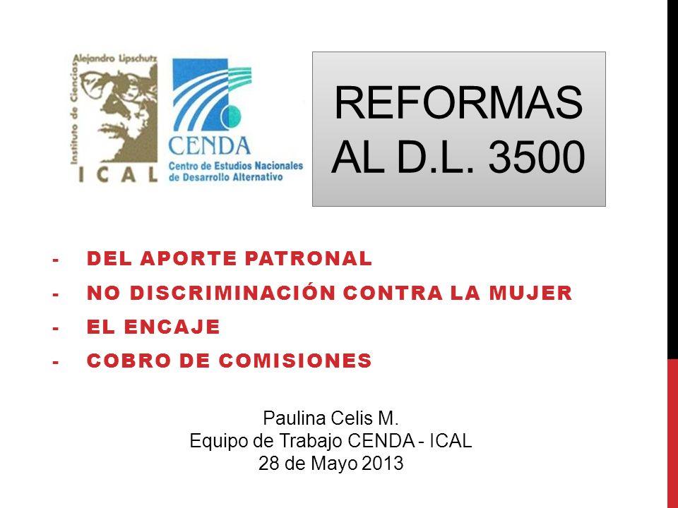 Equipo de Trabajo CENDA - ICAL