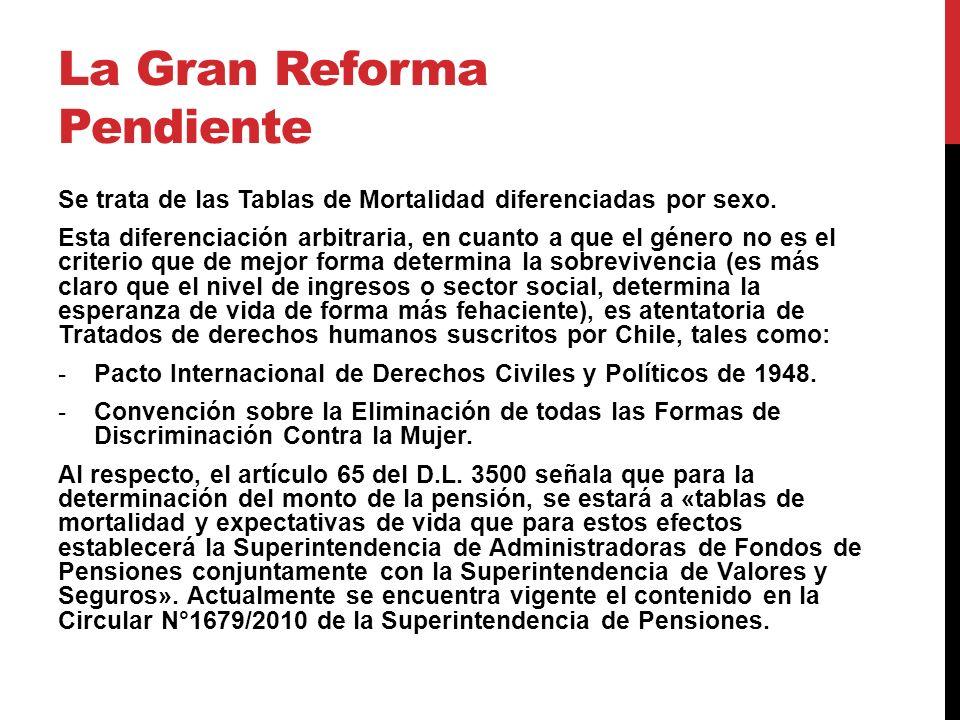 La Gran Reforma Pendiente