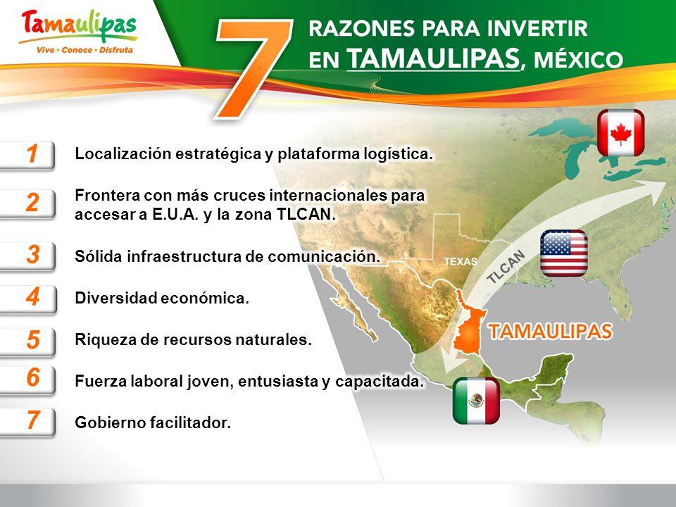 1 2 3 4 5 6 7 Localización estratégica y plataforma logística.