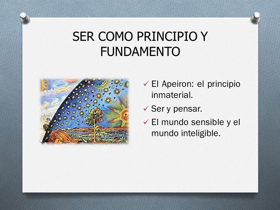 SER COMO PRINCIPIO Y FUNDAMENTO