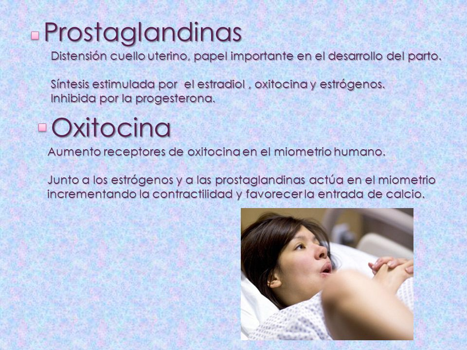 Prostaglandinas Oxitocina