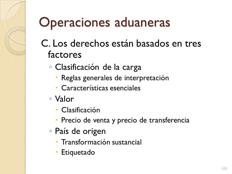 Operaciones aduaneras