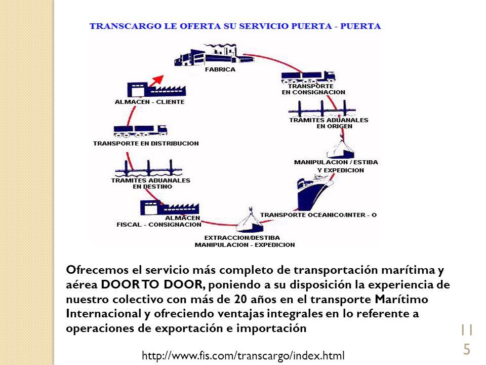 Ofrecemos el servicio más completo de transportación marítima y aérea DOOR TO DOOR, poniendo a su disposición la experiencia de nuestro colectivo con más de 20 años en el transporte Marítimo Internacional y ofreciendo ventajas integrales en lo referente a operaciones de exportación e importación