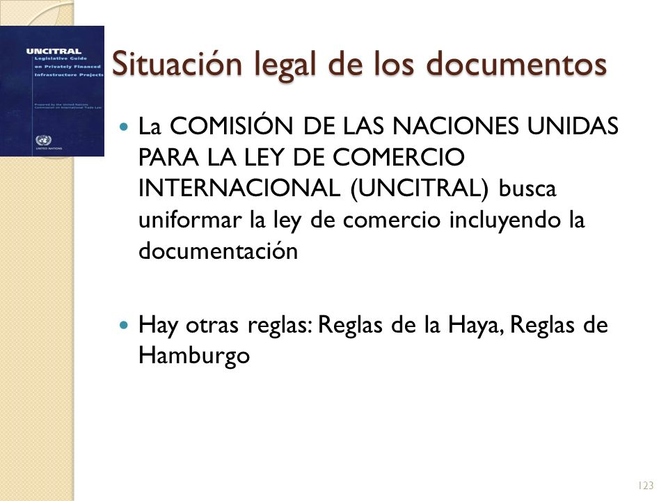 Situación legal de los documentos