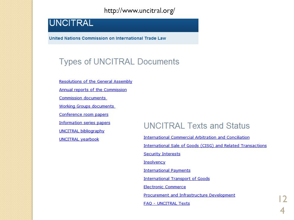 http://www.uncitral.org/