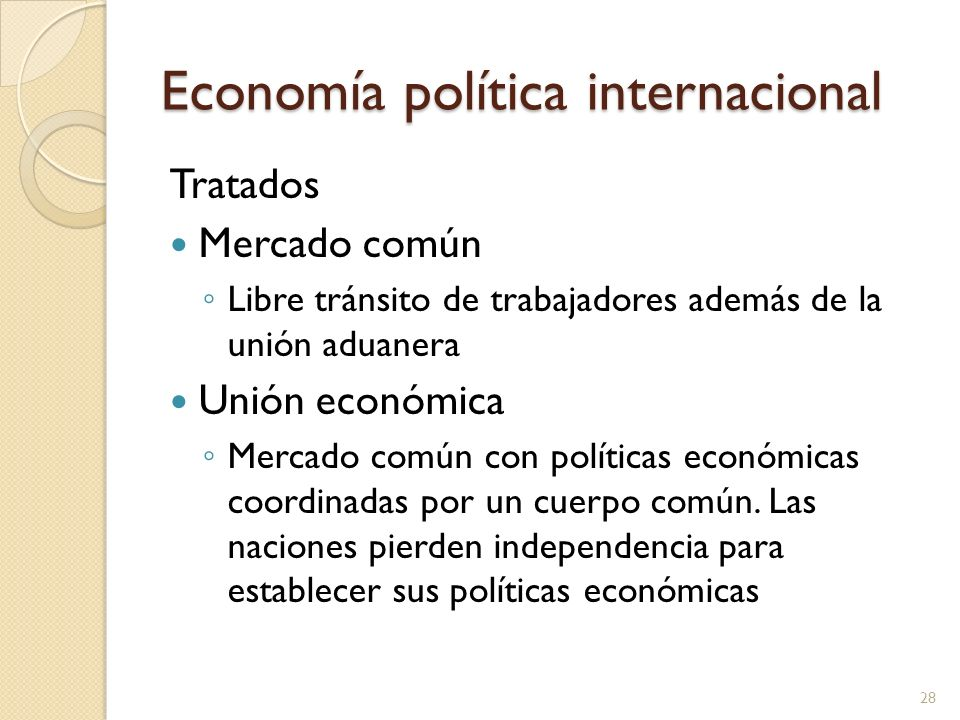 Economía política internacional
