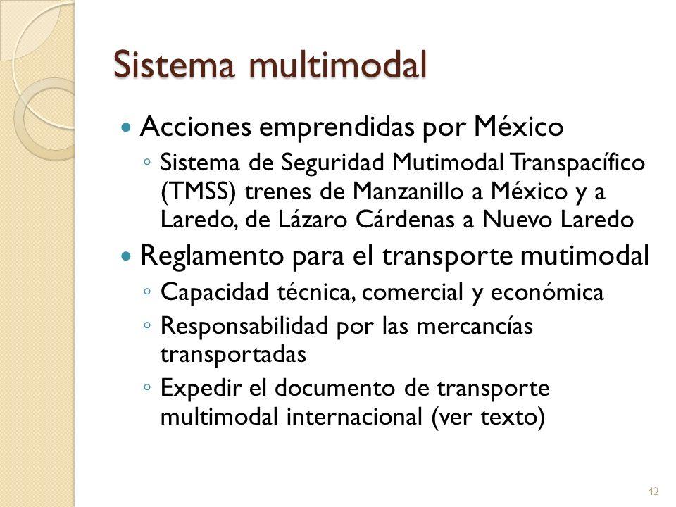 Sistema multimodal Acciones emprendidas por México