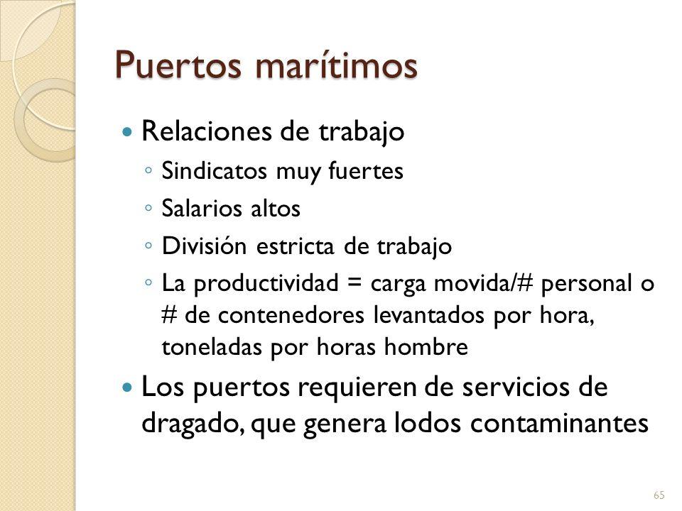 Puertos marítimos Relaciones de trabajo