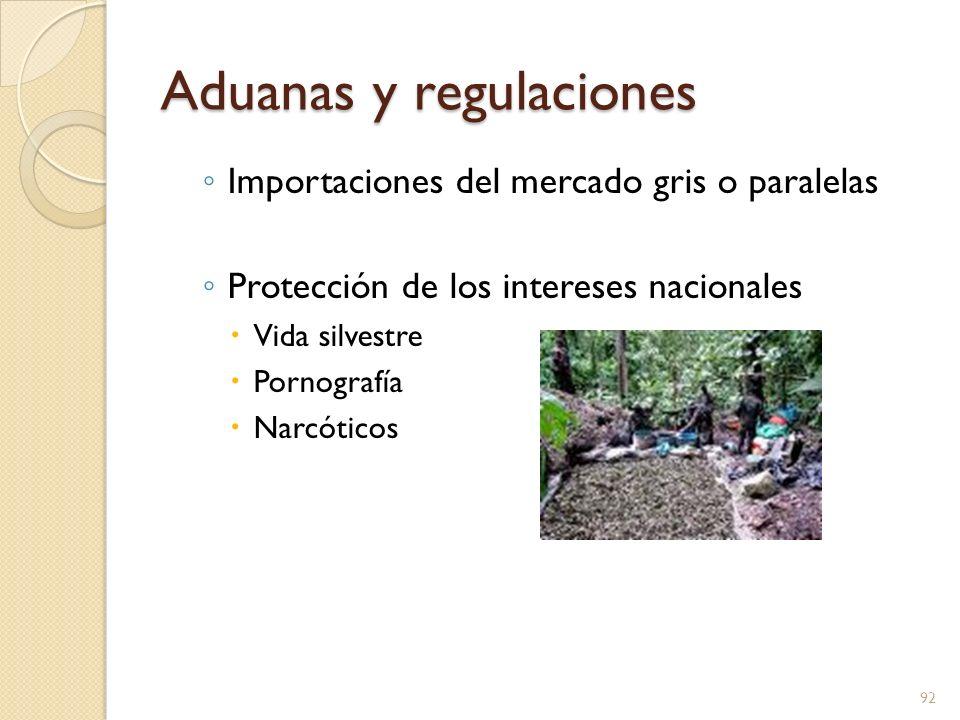 Aduanas y regulaciones