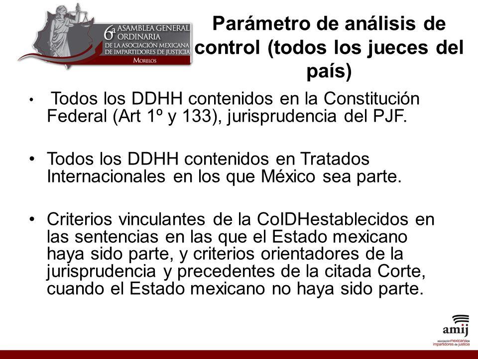 Parámetro de análisis de control (todos los jueces del país)