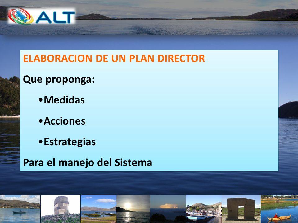 ELABORACION DE UN PLAN DIRECTOR