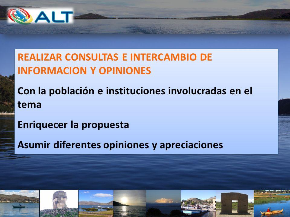 REALIZAR CONSULTAS E INTERCAMBIO DE INFORMACION Y OPINIONES