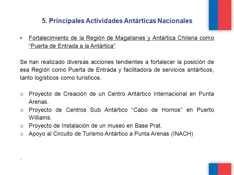 5. Principales Actividades Antárticas Nacionales