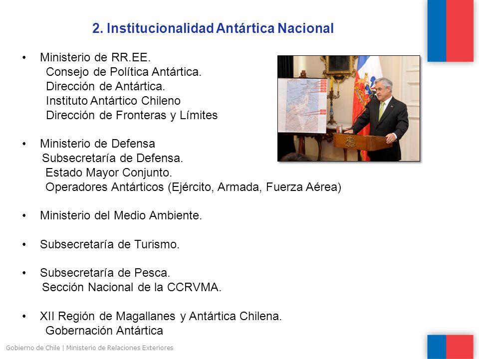 2. Institucionalidad Antártica Nacional