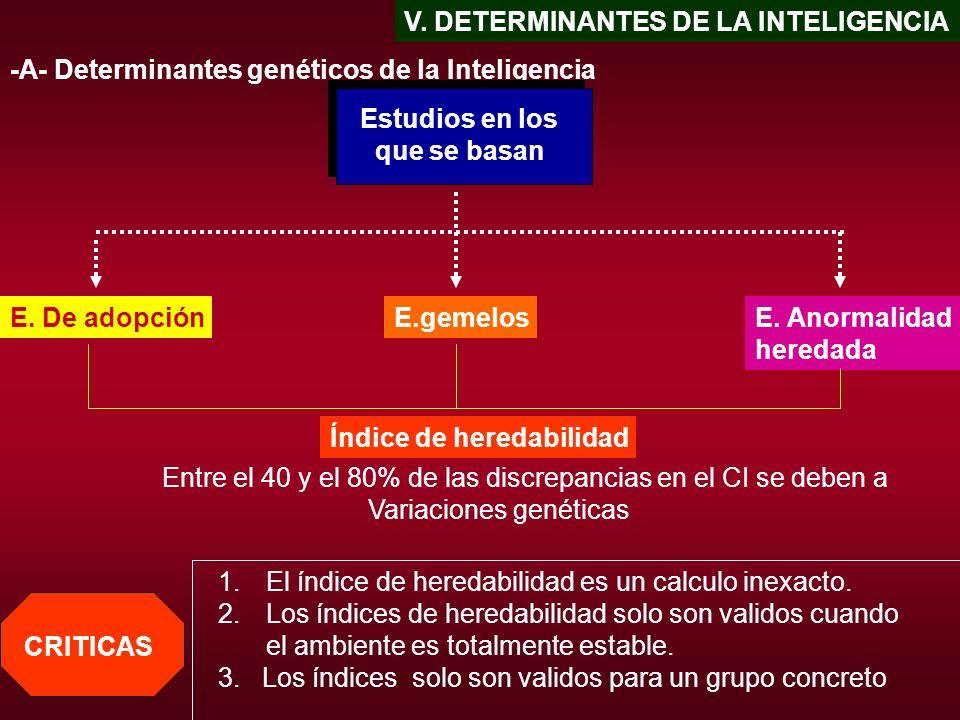 V. DETERMINANTES DE LA INTELIGENCIA