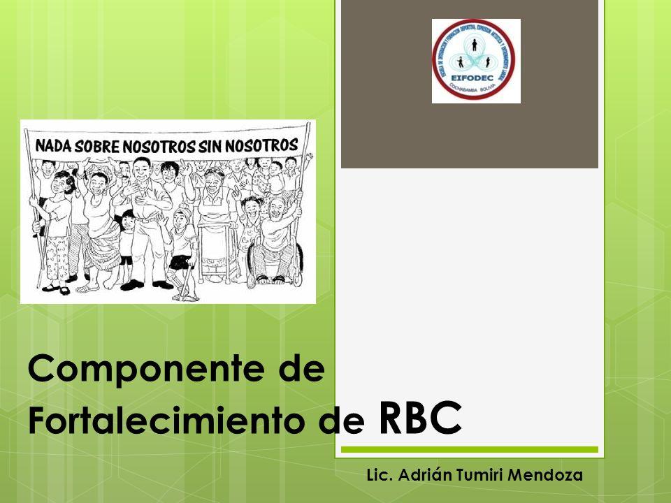 Componente de Fortalecimiento de RBC