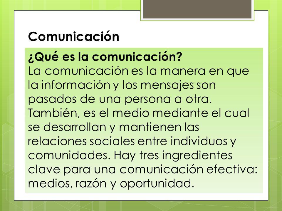 Comunicación ¿Qué es la comunicación
