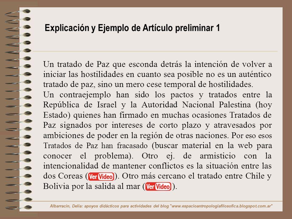 Explicación y Ejemplo de Artículo preliminar 1