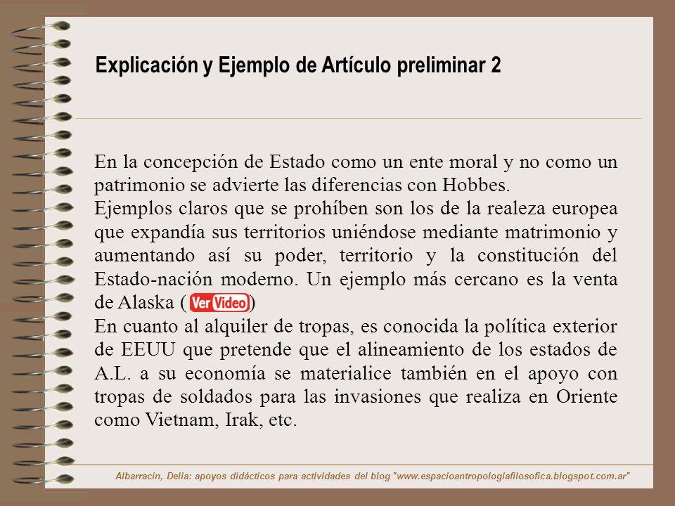 Explicación y Ejemplo de Artículo preliminar 2