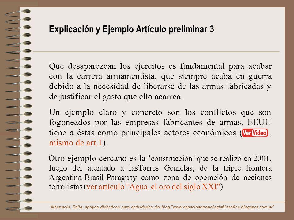 Explicación y Ejemplo Artículo preliminar 3