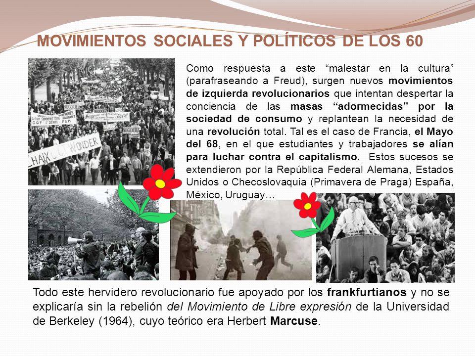 MOVIMIENTOS SOCIALES Y POLÍTICOS DE LOS 60
