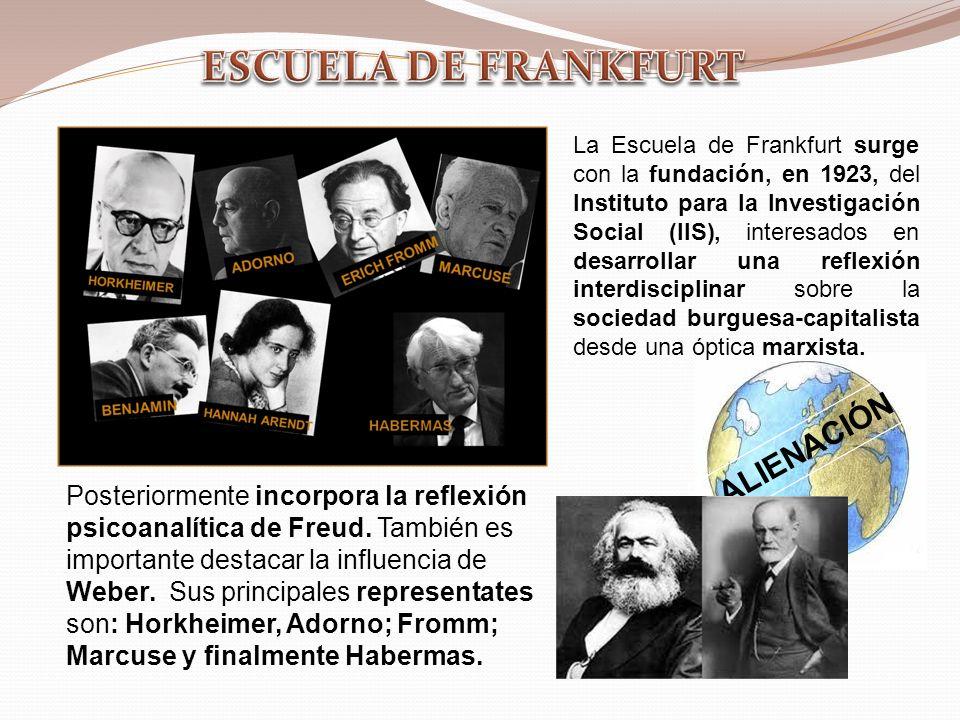 ESCUELA DE FRANKFURT ALIENACIÓN