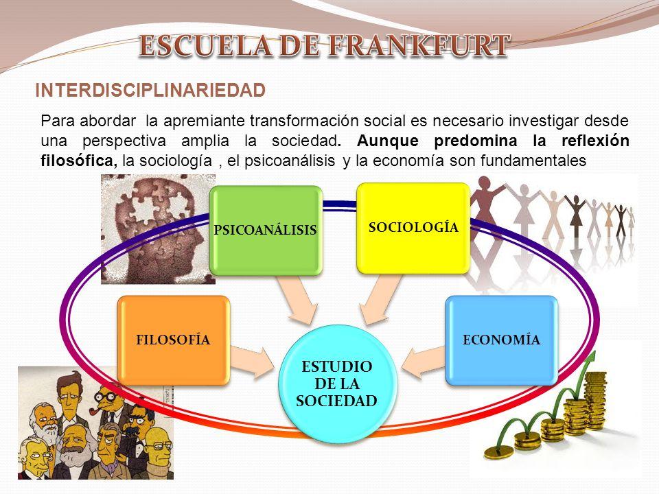 ESCUELA DE FRANKFURT INTERDISCIPLINARIEDAD
