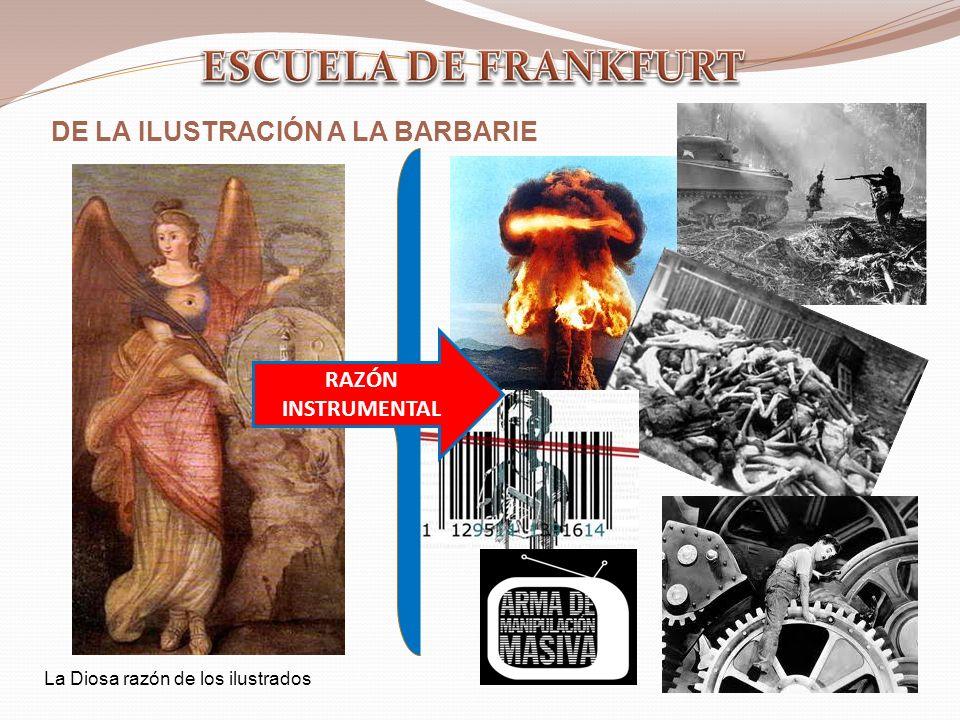 ESCUELA DE FRANKFURT DE LA ILUSTRACIÓN A LA BARBARIE