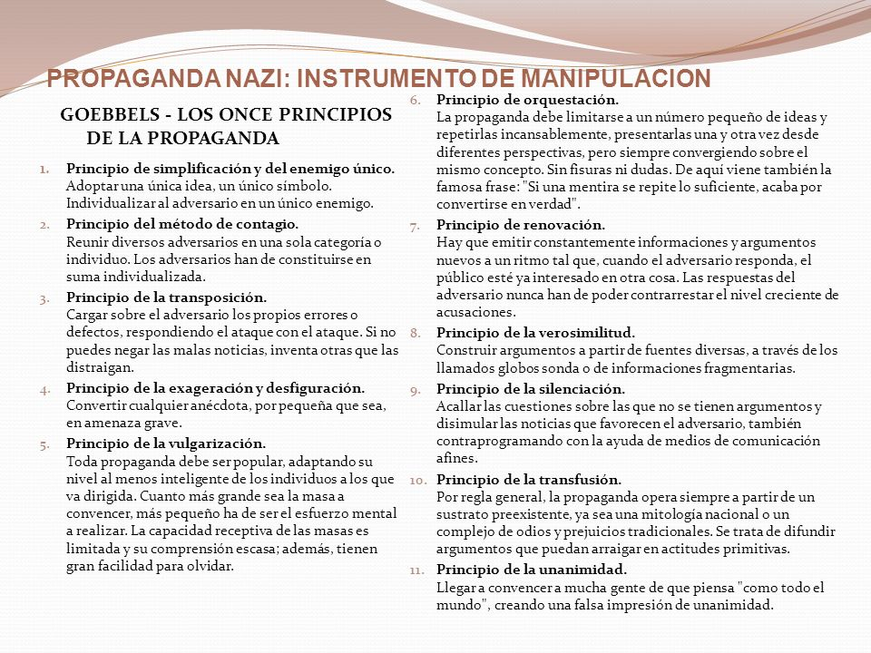 PROPAGANDA NAZI: INSTRUMENTO DE MANIPULACION