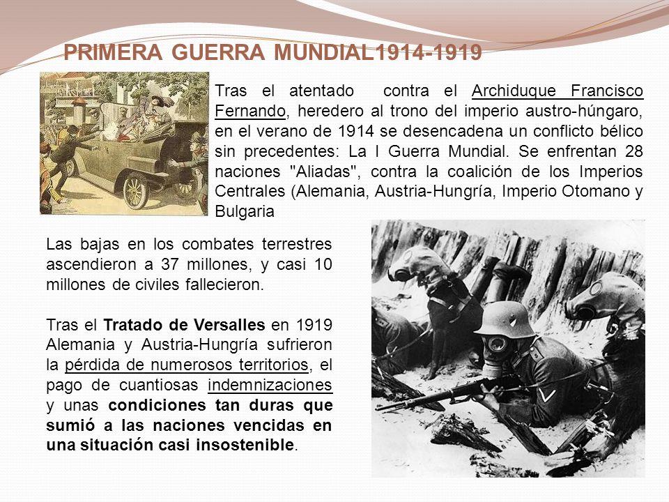 PRIMERA GUERRA MUNDIAL1914-1919