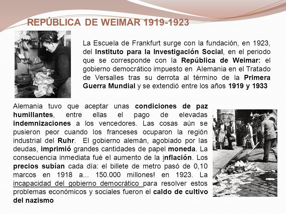 REPÚBLICA DE WEIMAR 1919-1923