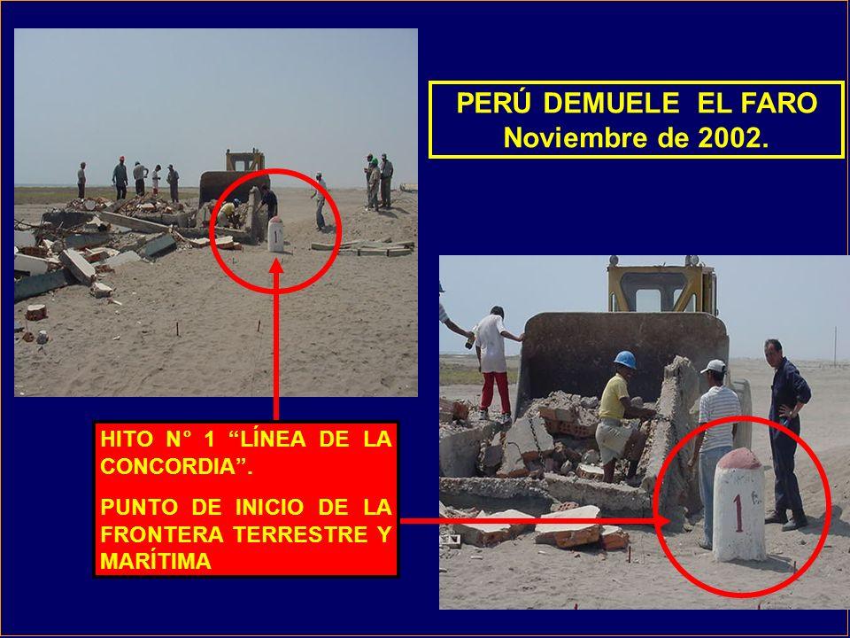 PERÚ DEMUELE EL FARO Noviembre de 2002.