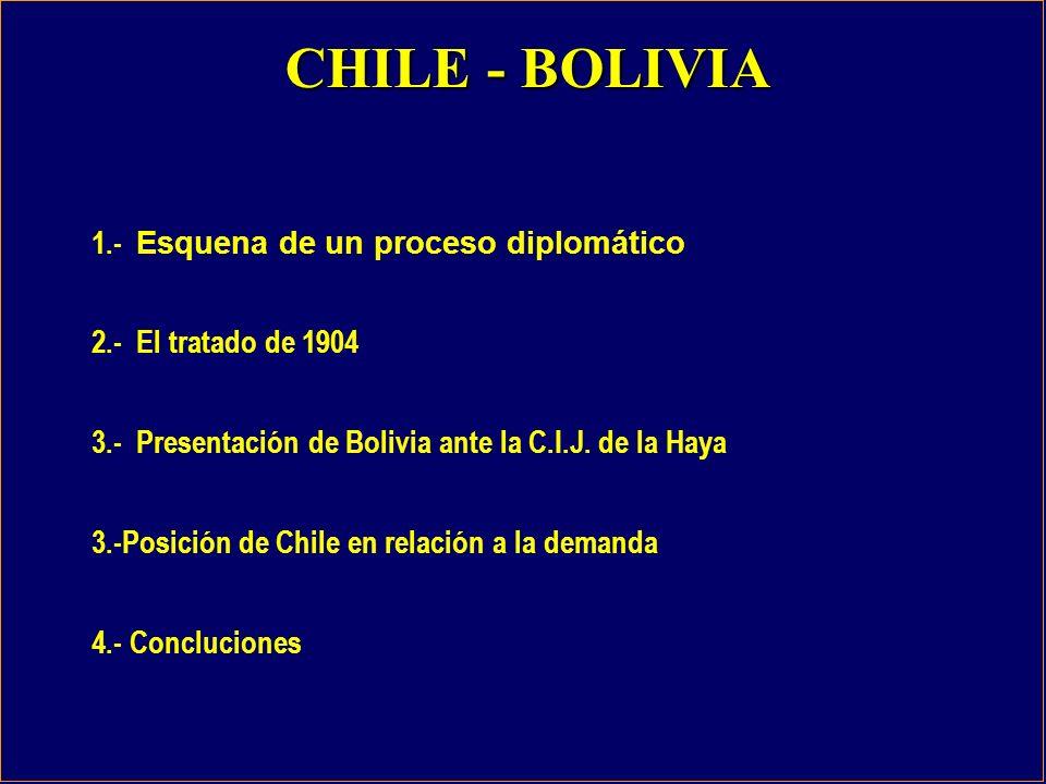 CHILE - BOLIVIA 1.- Esquena de un proceso diplomático