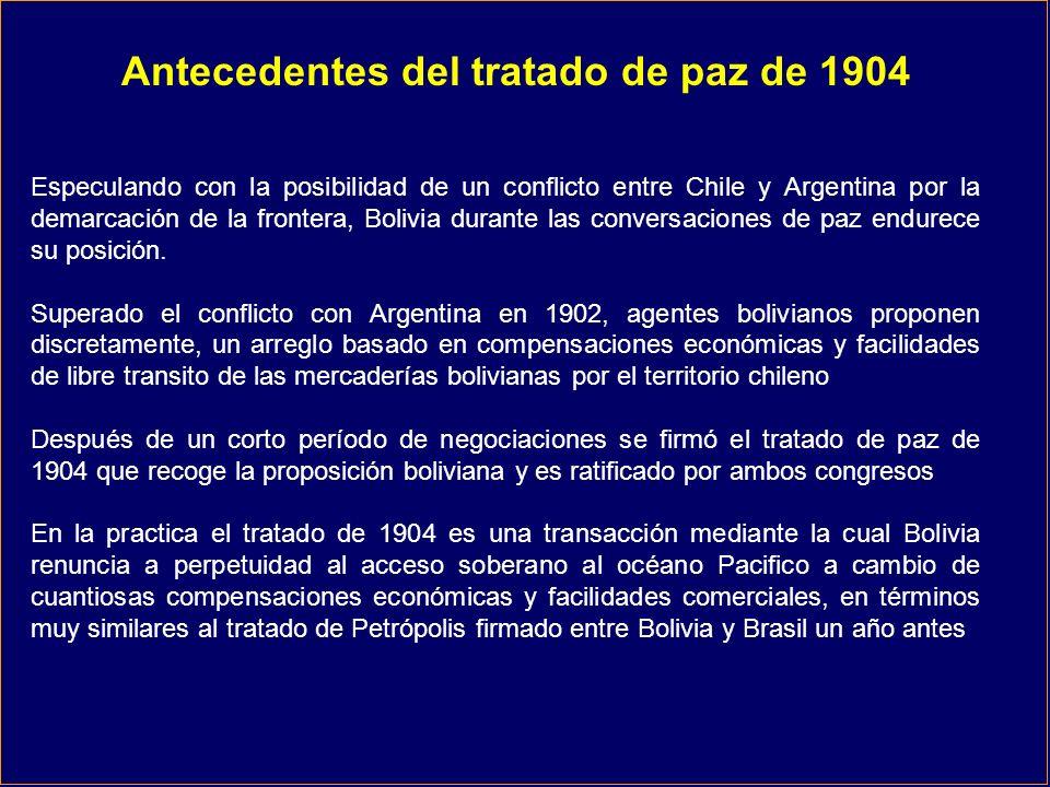 Antecedentes del tratado de paz de 1904