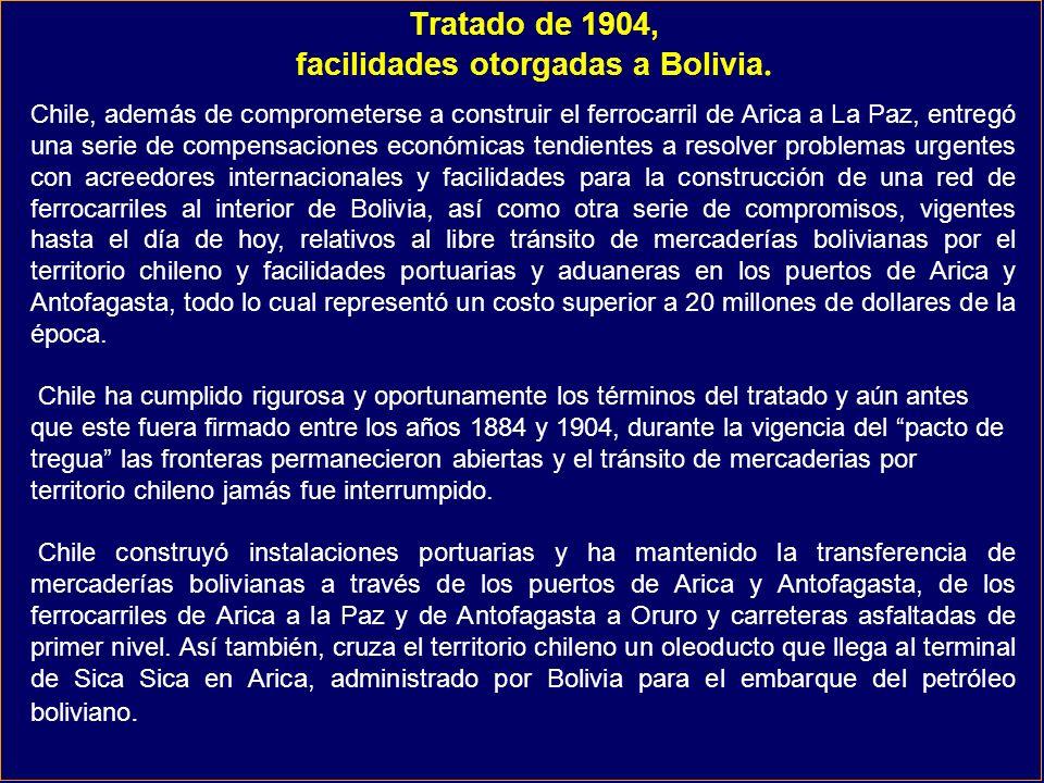 Tratado de 1904, facilidades otorgadas a Bolivia.