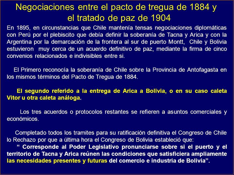 Negociaciones entre el pacto de tregua de 1884 y
