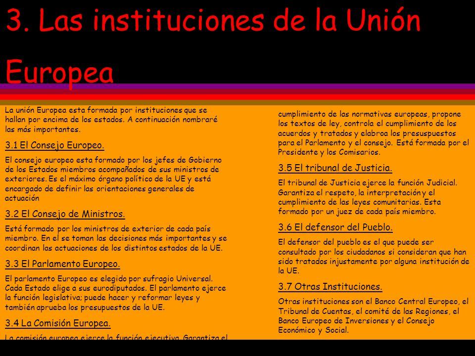 3. Las instituciones de la Unión Europea