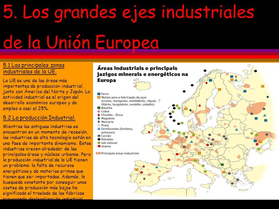 5. Los grandes ejes industriales de la Unión Europea