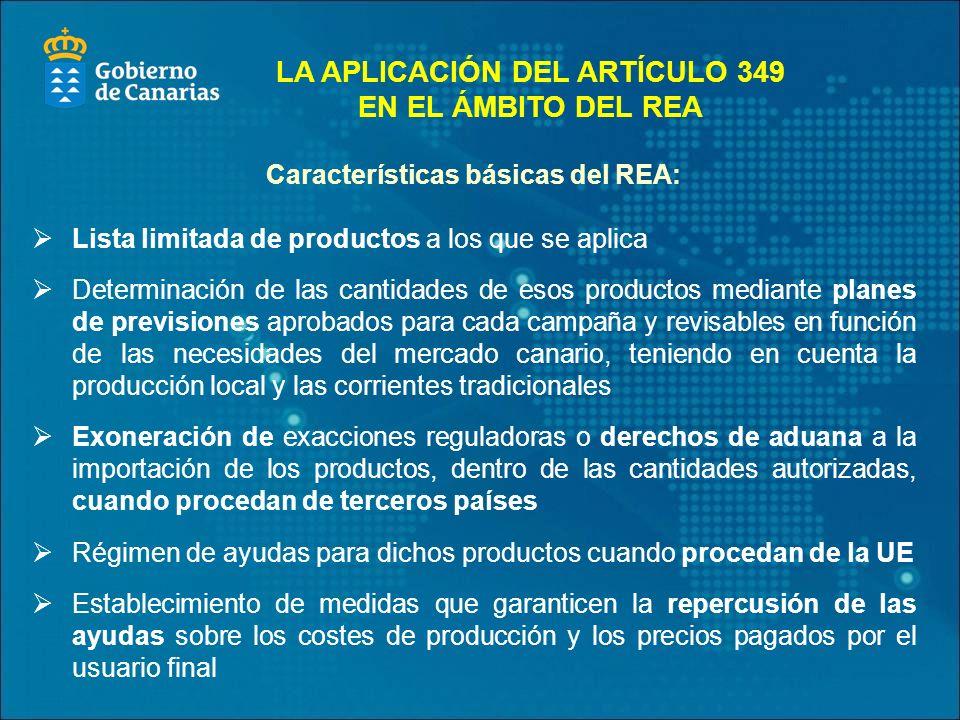 LA APLICACIÓN DEL ARTÍCULO 349 EN EL ÁMBITO DEL REA