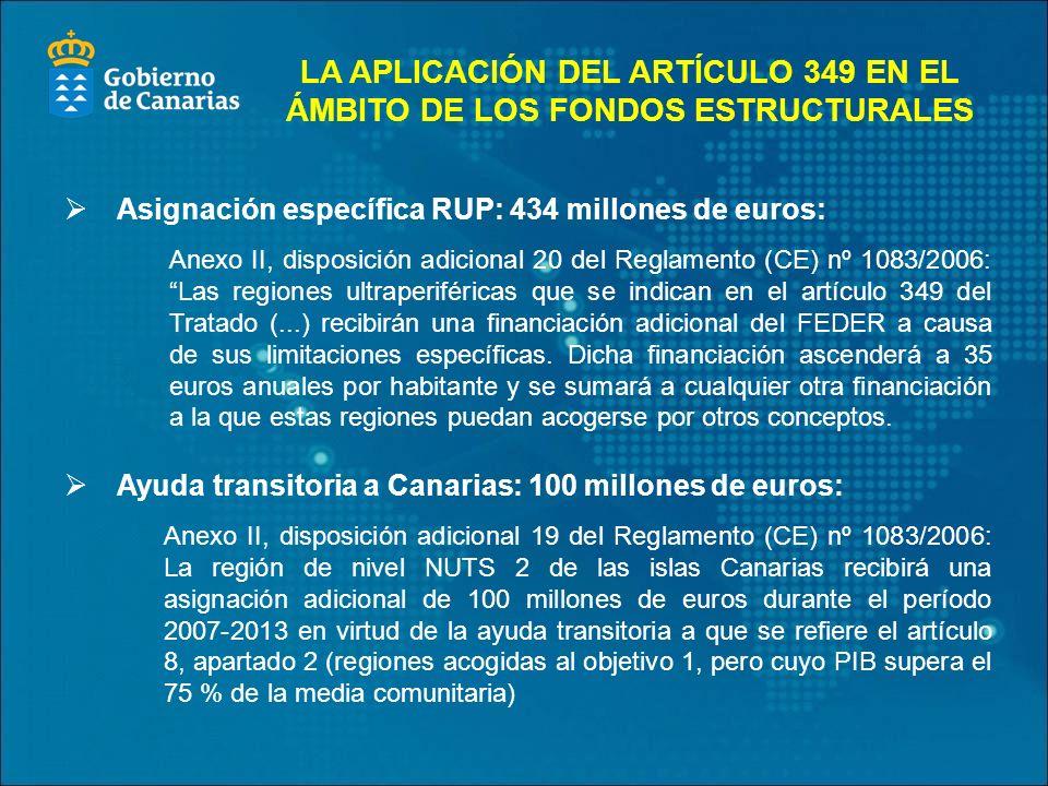 LA APLICACIÓN DEL ARTÍCULO 349 EN EL ÁMBITO DE LOS FONDOS ESTRUCTURALES