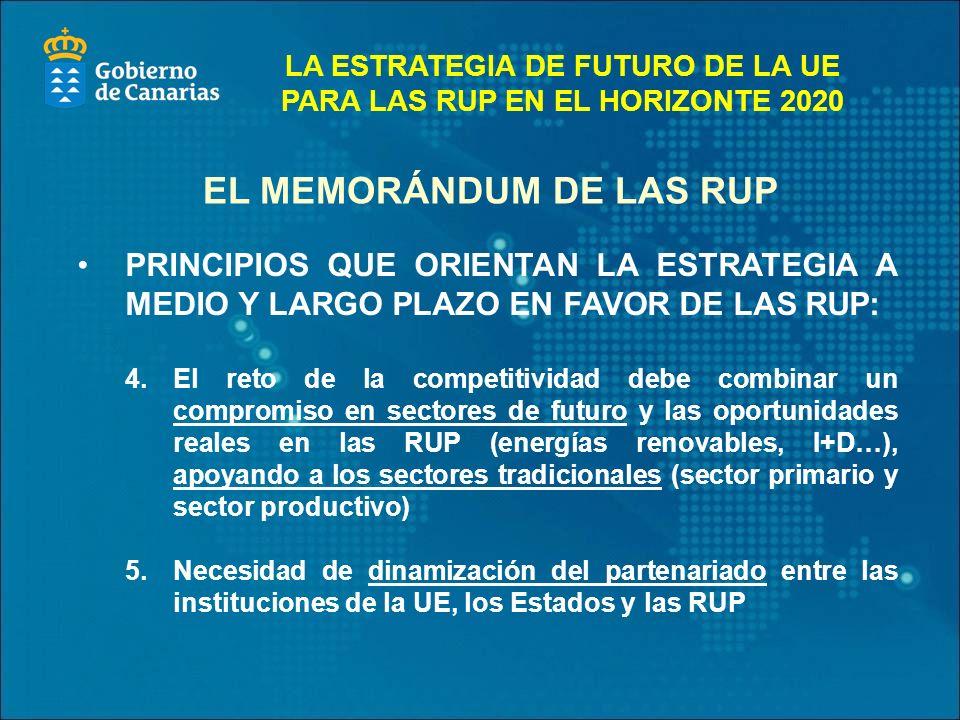 EL MEMORÁNDUM DE LAS RUP