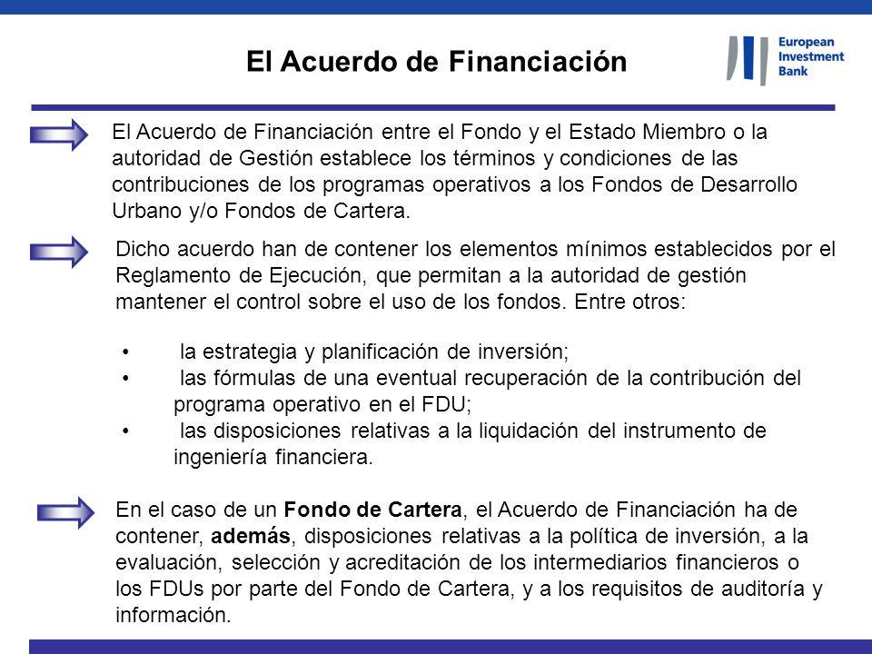 El Acuerdo de Financiación