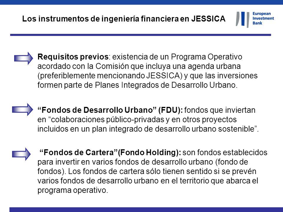 Los instrumentos de ingeniería financiera en JESSICA