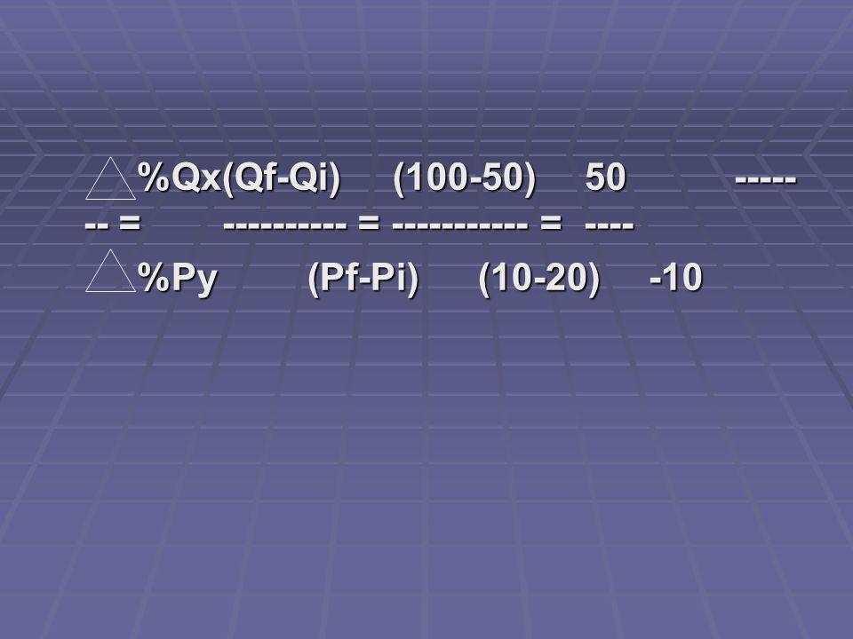 %Qx (Qf-Qi) (100-50) 50 ------- = ---------- = ----------- = ----