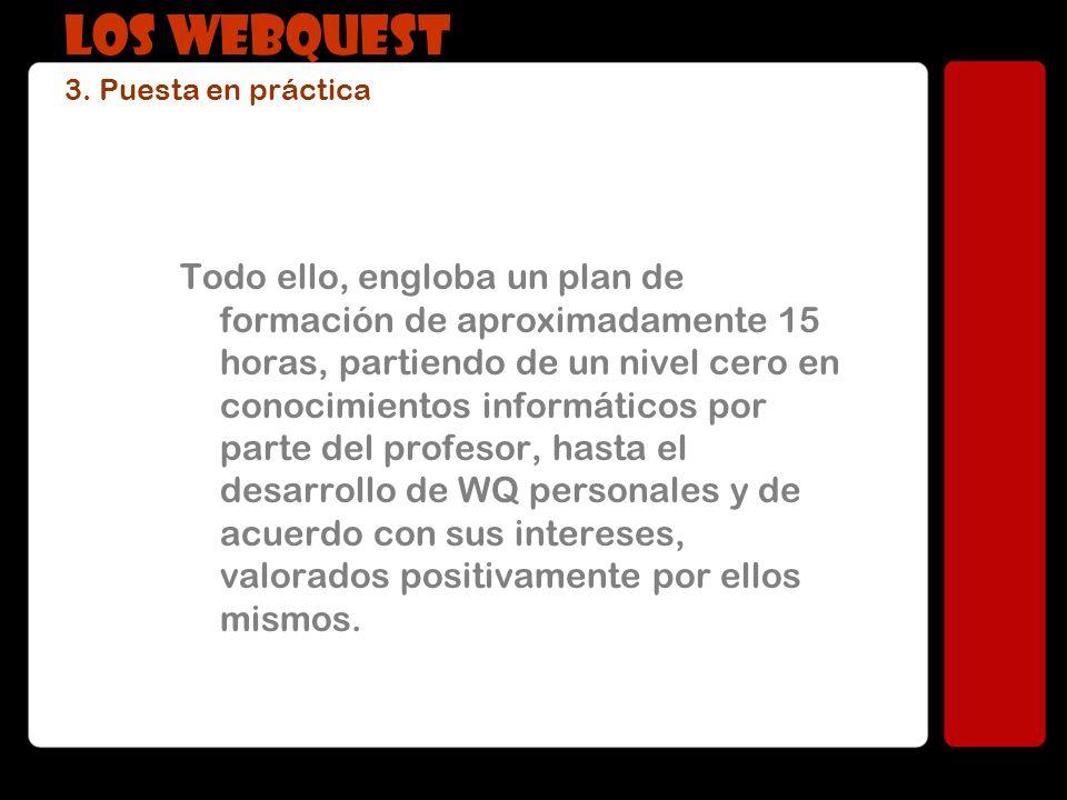 LOS WEBQUEST 3. Puesta en práctica